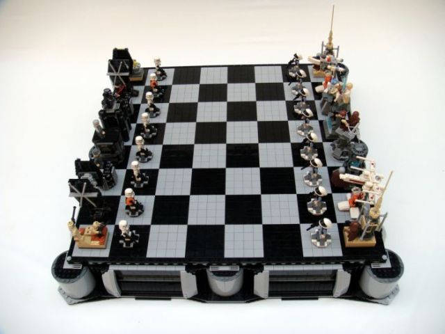 Cool Lego Star Wars chess (52 pics)