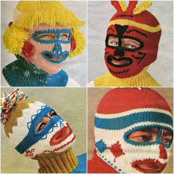 Knitted masks (22 pics)