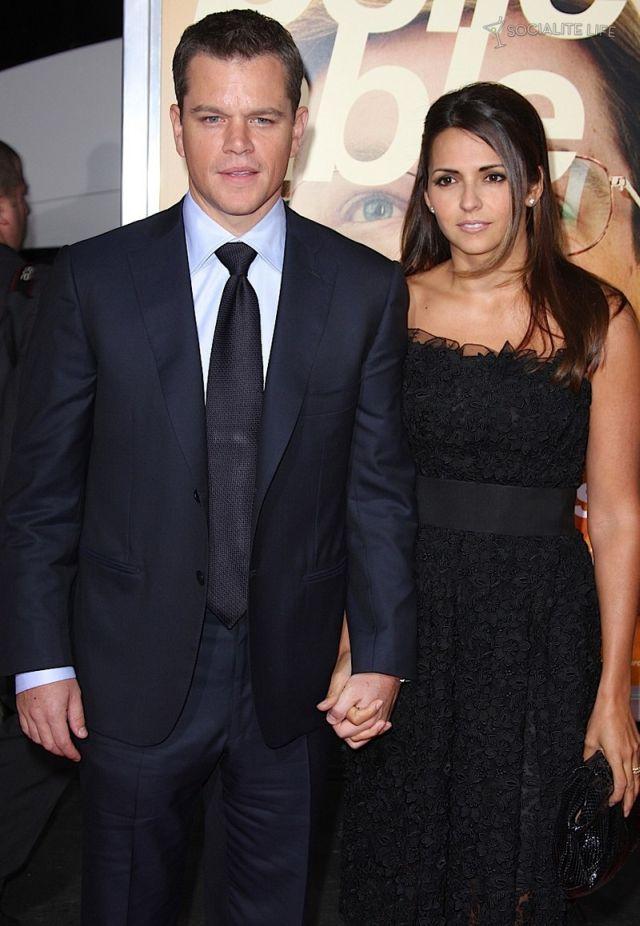 Matt Damon and Luciana Barroso (12 pics)