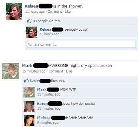 some funny images for facebook. Anyway, here is a selection of funny Facebook moments. Enjoy!