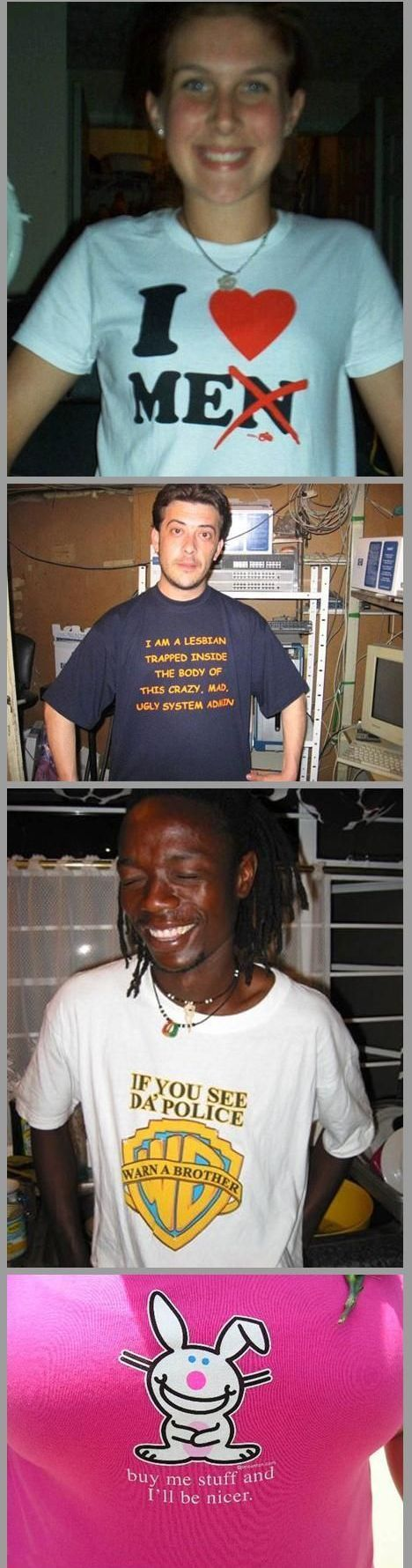 Do you know what said the last T-shirt you put on? Part 2 (88 pics)