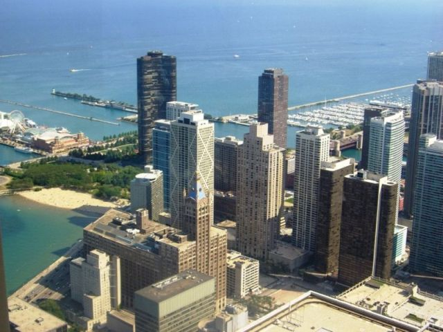 View at Lake Michigan from the John Hancock Center (12 pics)