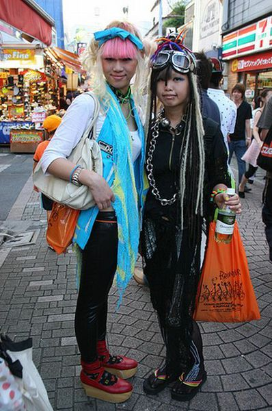 Japanese fashion street Harajuku