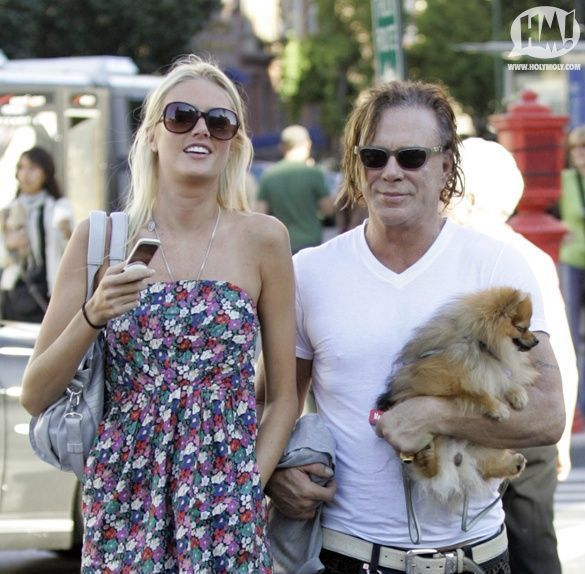 Mickey Rourke spotted in New York (7 pics)