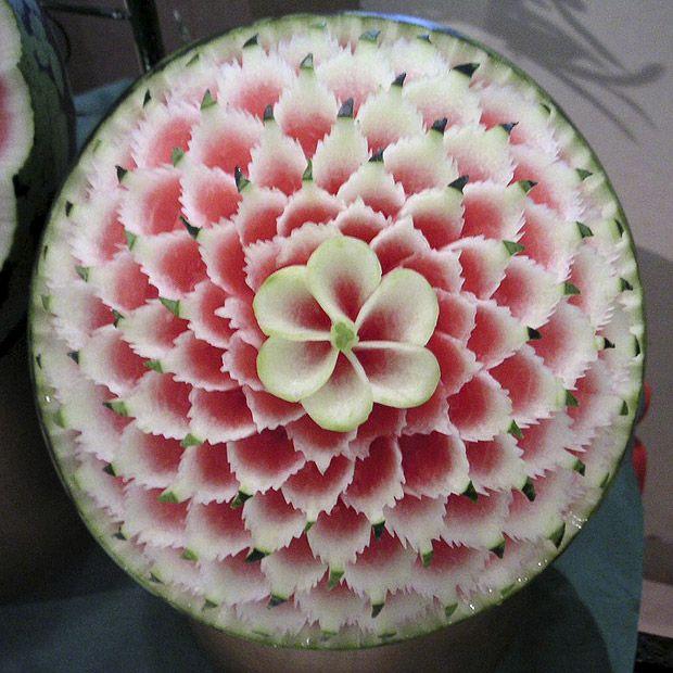 Watermelon carvings The Solucar solar power plant in Sanlucar la Mayor(14 pics)