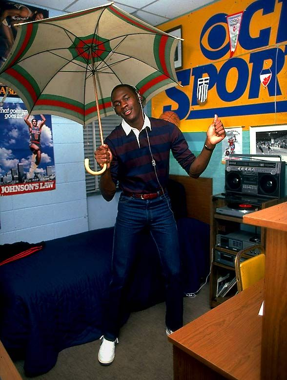 Michael Jordan during his college years (10 pics)