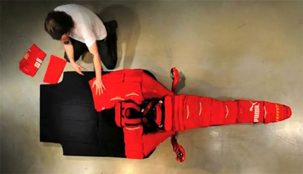 Ferrari F1 car made out of clothes (9 pics)