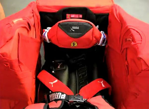 Ferrari F1 car made out of clothes (9 pics)