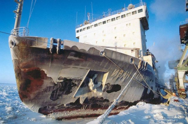 Atomic icebreakers in the Arctic (47 pics)