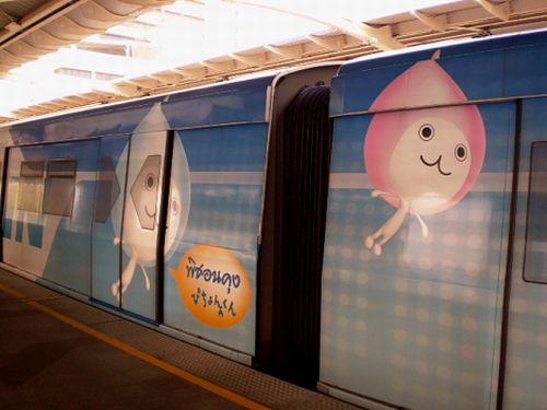 Japanese painted train wagons (33 pics)