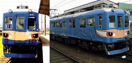Japanese painted train wagons (33 pics)