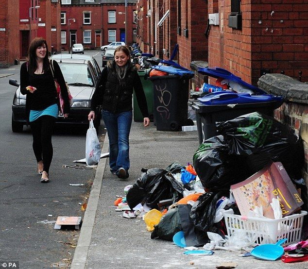 Streets of rubbish in Leeds – paradise for rats and flies! (6 pics)