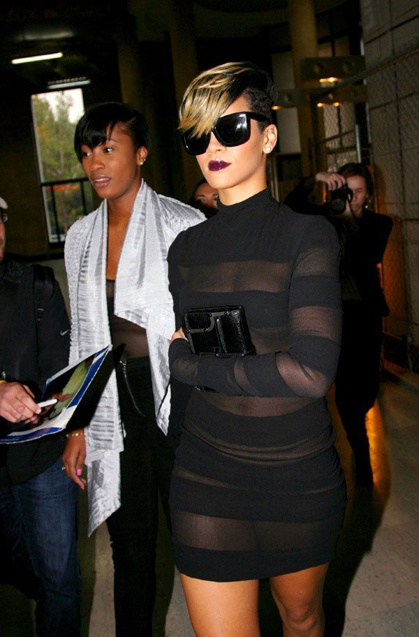 Rihanna in a sexy and quite revealing dress (9 pics)