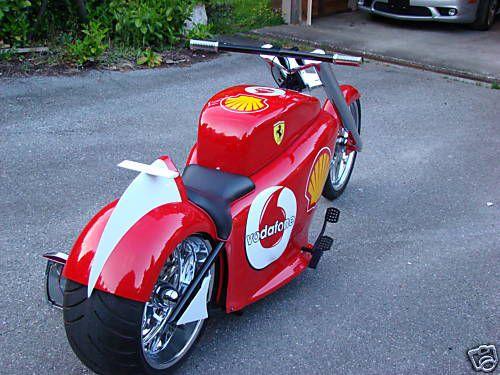 Custom Ferrari chopper sold on Ebay (14 pics)