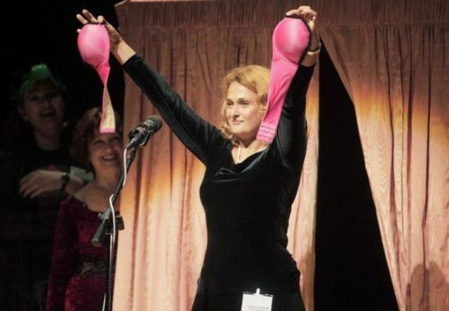 Ig Nobel Prize of the year - the bra that turns into a pair of gas masks! (5 pics)