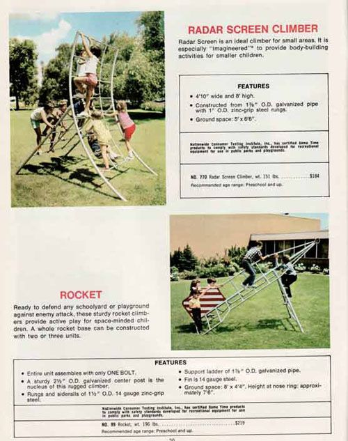 Playgrounds from the 70's (25 pics)