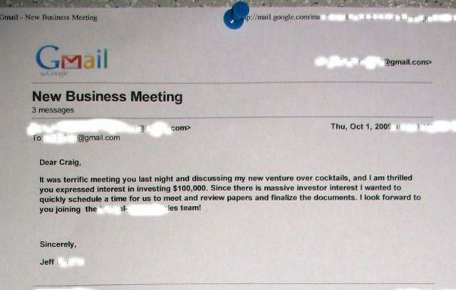 New Business Meeting funny email (1 pic)