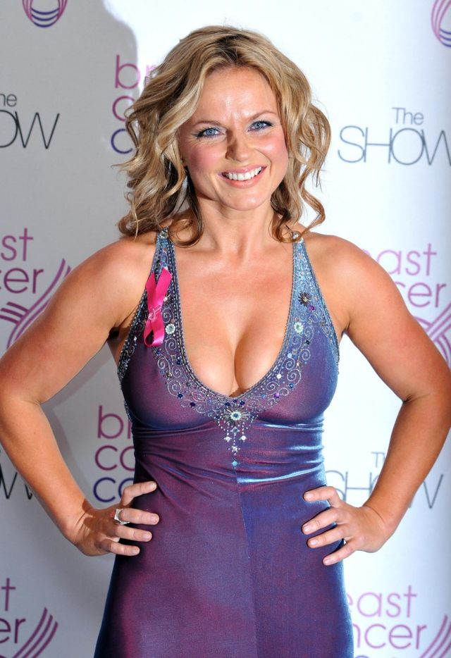 Geri Halliwell and her cleavage (12 pics)