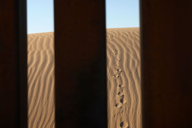The Mexico - United States barrier (33 pics)