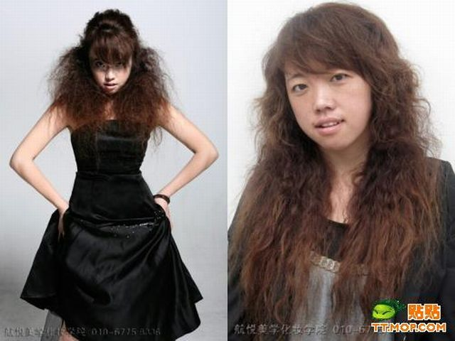 Girls with and without makeup (11 pics)