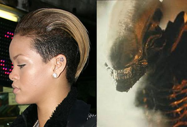 Rihanna looking like Alien ;) (6 pics)