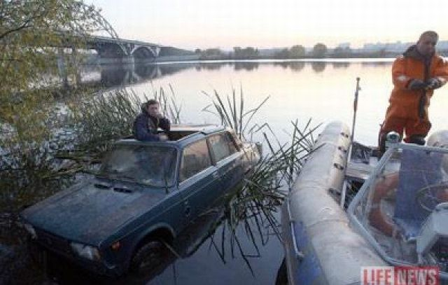 """Lada """"riding"""" on the water?!! (11 pics)"""