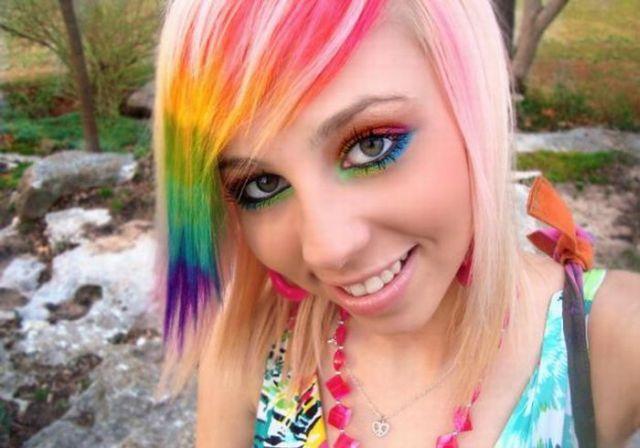 Rainbow Girl (7 pics)
