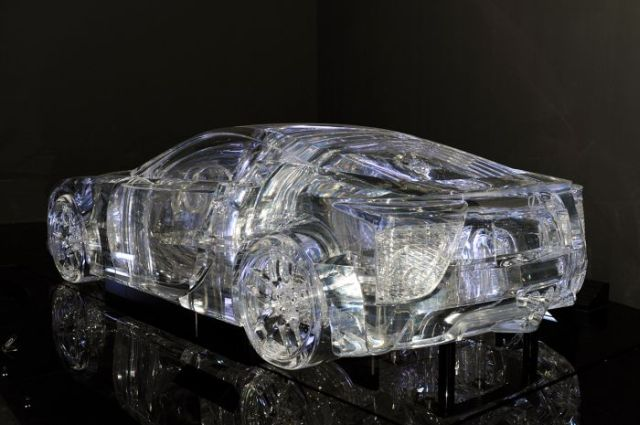 Full-Size Transparent Lexus Built by Japanese Architect (14 pics)