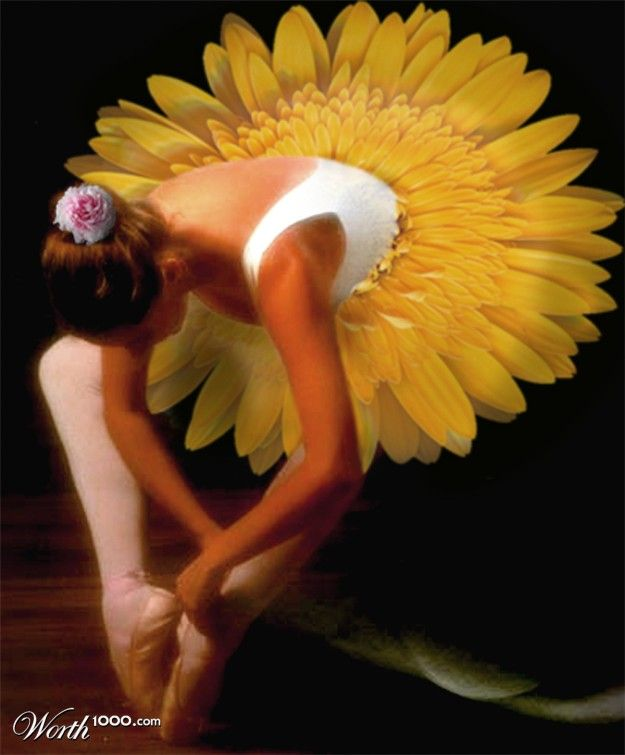 Photomontages with Flowers (37 pics)