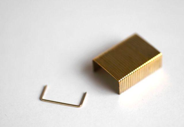 14 Karat Goldplated Staples (4 pics)