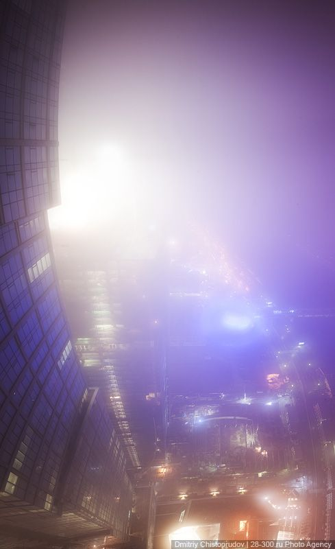 Moscow skyscrapers shot during low clouds (20 pics)
