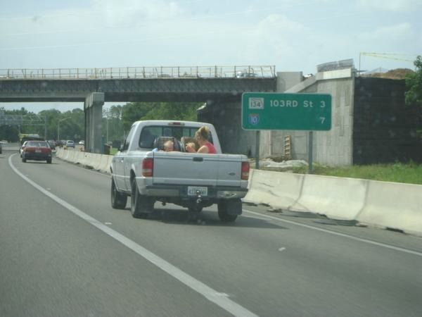 Babies Riding in the Cargo Area of a Pickup!! (6 pics)