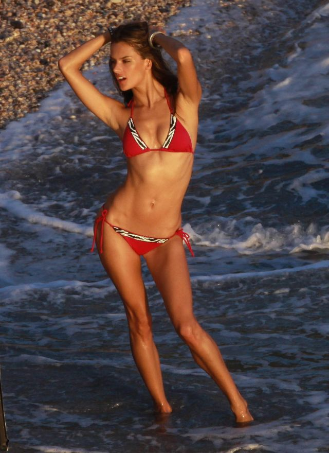 Alessandra Ambrosio's Photo Shoot on the Beach (15 pics)