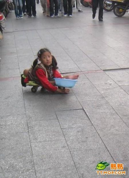 Non Muslim Perspective On The Revolution Of Imam Hussain: Little Chinese Girl Begging In The Street (6 Pics