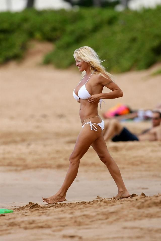 Pamela Anderson on the Beach (12 pics)