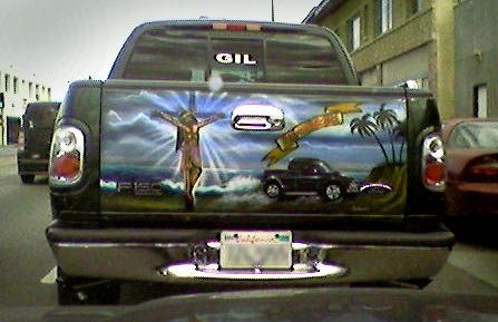 Cool Airbrushed Mexican Tailgate Murals (51 pics)