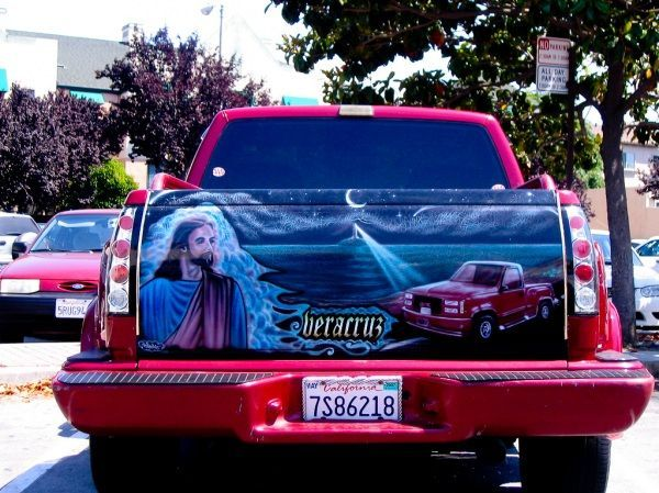 Cool Pictures Of Cars >> Cool Airbrushed Mexican Tailgate Murals (51 pics) - Izismile.com