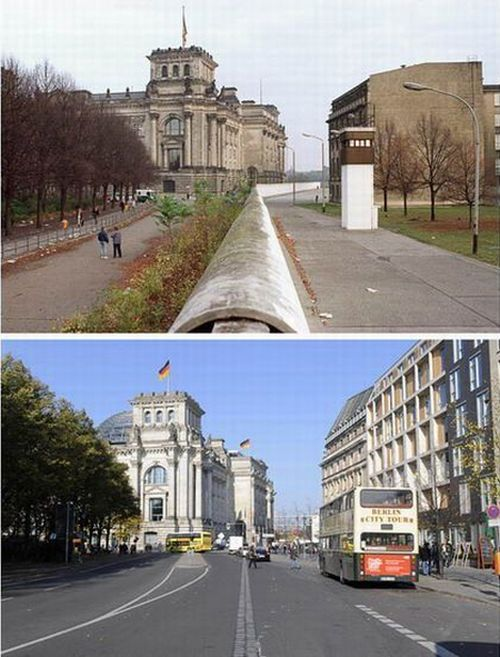 Berlin Wall: Before and Today (24 pics)