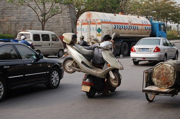 One Way to Tow a Scooter! (4 pics)
