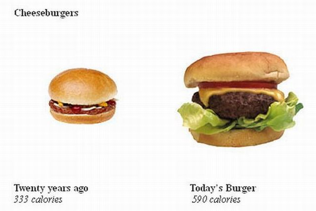 Average Portion Size 20 Years Ago and Now (5 pics)