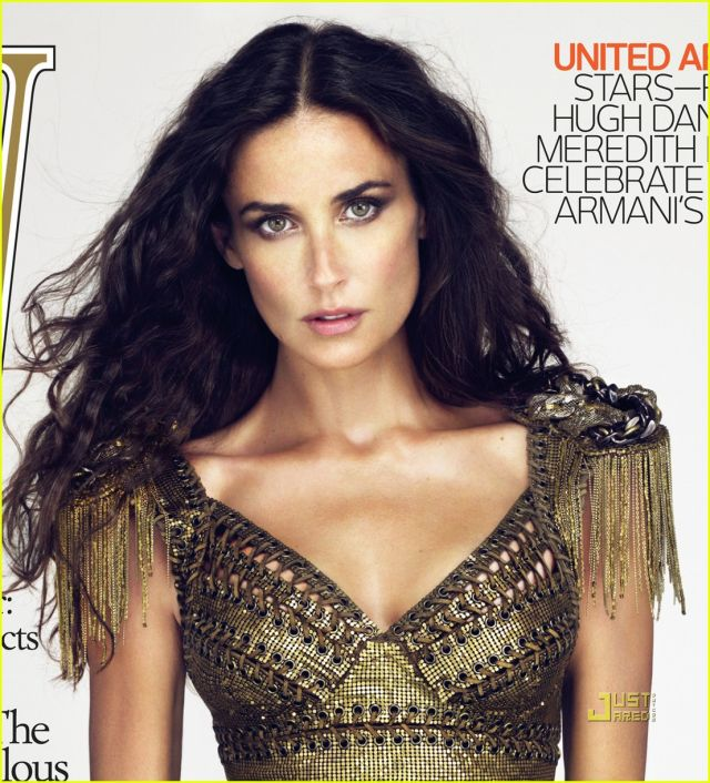 Demi Moore on the Covers of 'W Magazine' (4 pics)