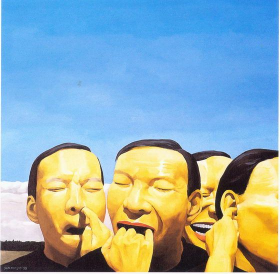 Laughing Painter Yue Minjun (25 pics)