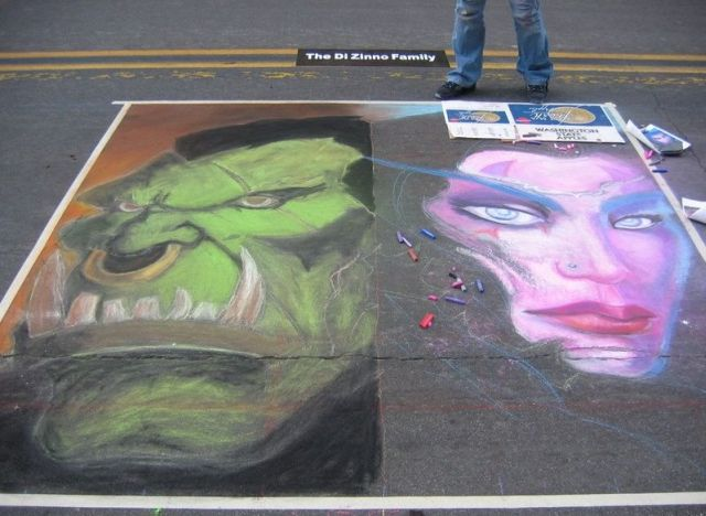 Superb Chalk Drawing on the Pavement (23 pics)
