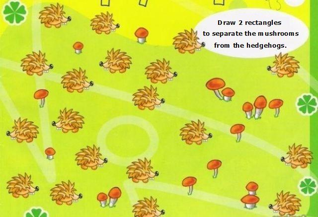 The Riddle of the Day. Mushrooms and Hedgehogs (2 pics)