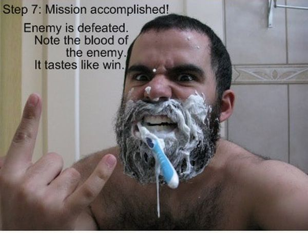 How to Brush Your Teeth Like a Spartan (7 pics)