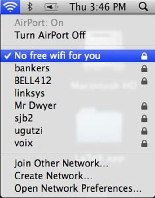 Funny Wi-Fi Networks Names (18 pics)
