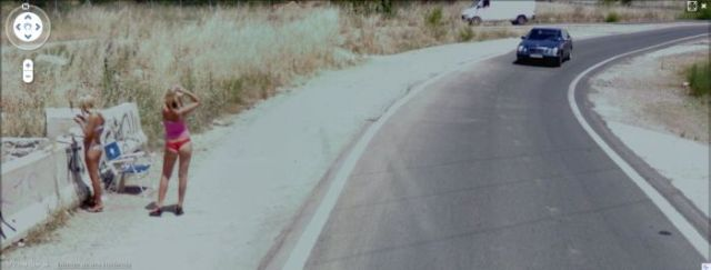 Prostitutes Spotted on Google Street View (24 pics)
