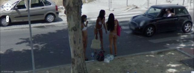 Prostitutes Spotted On Google Street View 24 Pics