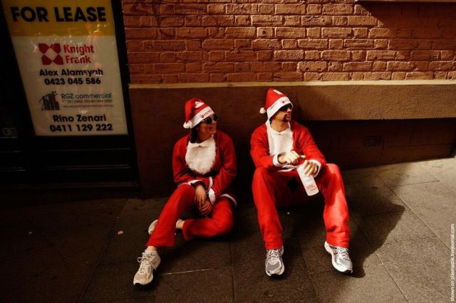 Santa Claus Race in Sydney (10 pics)
