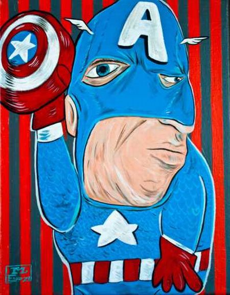 Picasso Superhero Illustrations (10 pics)